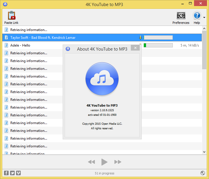 4K YouTube to MP3 3.3.0.1747