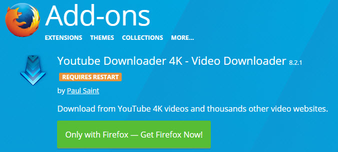 how can i download youtube videos using mozilla firefox