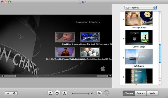 Crea fantastici menu DVD sul tuo Mac