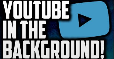 play youtube-background