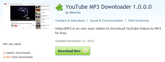 Top Youtube to MP3 Extension for Chrome, Firefox and Safari
